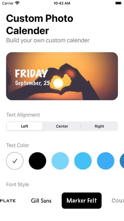 Color Photo Calendar Widget