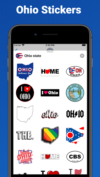 Ohio state - USA stickers screenshot 1
