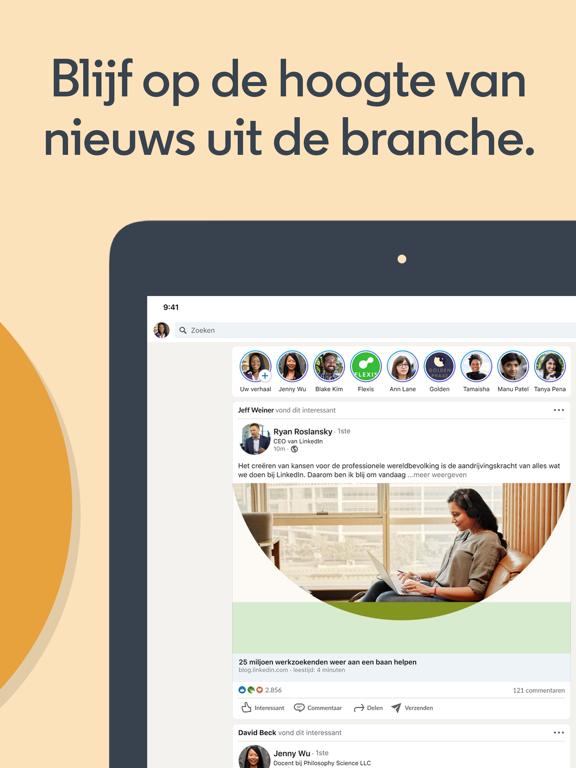 LinkedIn: Een baan zoeken iPad app afbeelding 7