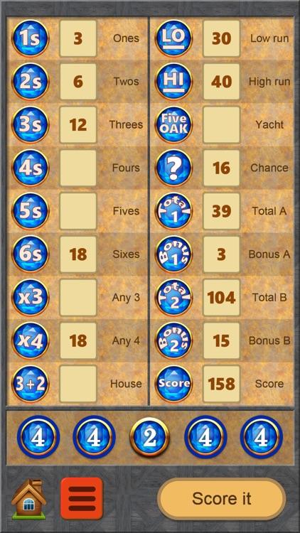 FiveOAK, yatzy dice game screenshot-5