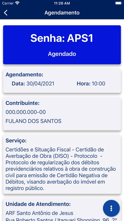 Agendamento RFB