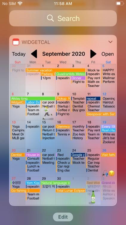 WidgetCal-Calendar Widget screenshot-3