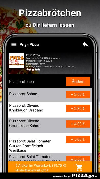 Priya Pizza Altenburg screenshot 5