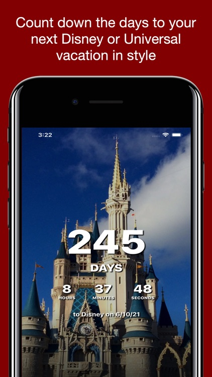 Countdown for Disney Vacation