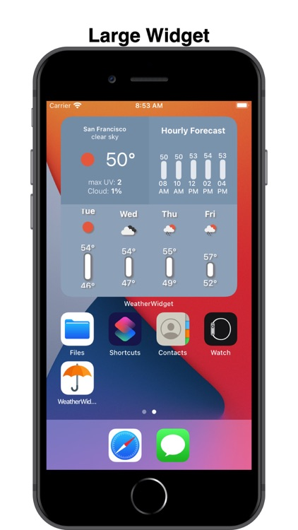 WeatherWidget: Quick Glance