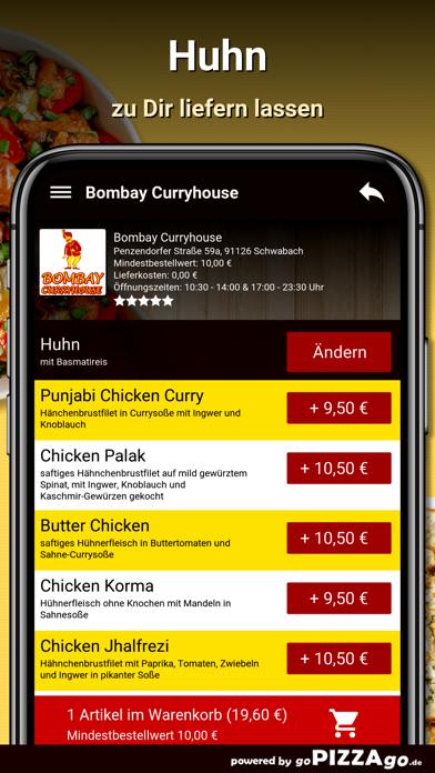 Bombay Curryhouse Schwabach screenshot 1