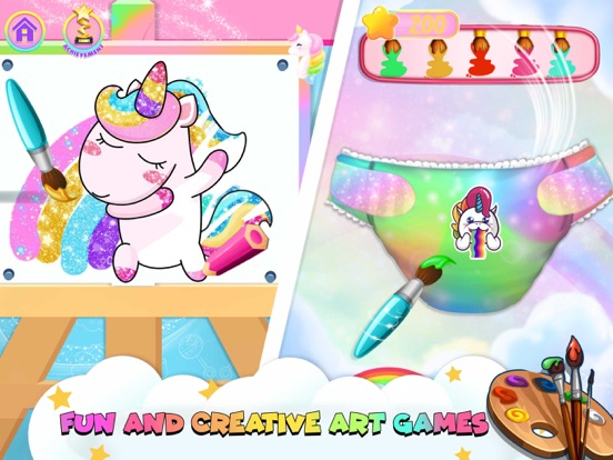 iPad Image of Unicorn Mommy Care Game