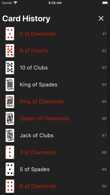 Deck of Cards - Virtual deck