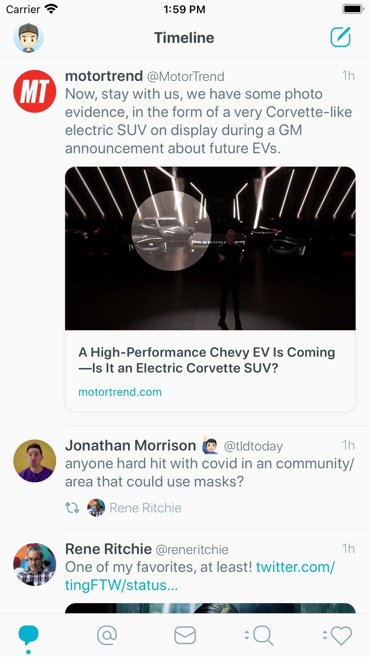 Screenshot do app Tweetbot 6 for Twitter