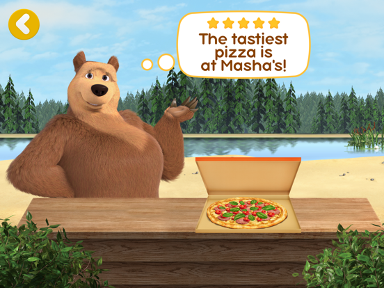 Ipad Screen Shot Masha and the Bear Pizzeria! 6