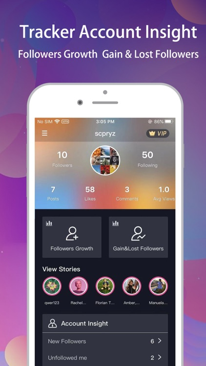 Reports+ for Instagram tracker