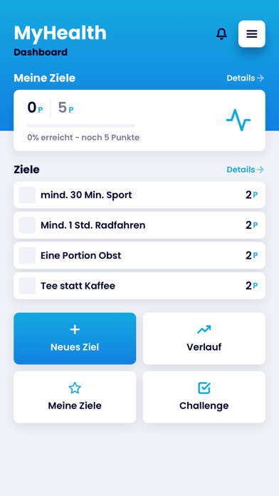 MyHealthApp screenshot 1