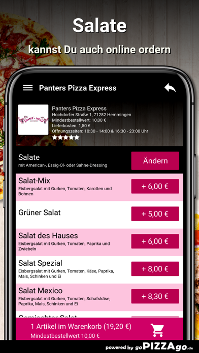 Panters Pizza Hemmingen screenshot 5