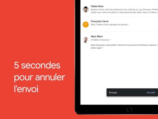 Gmail – l'e-mail Google iPad captures décran