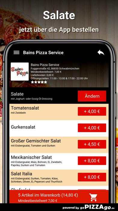 Bains Pizza Schwabmünchen screenshot 5