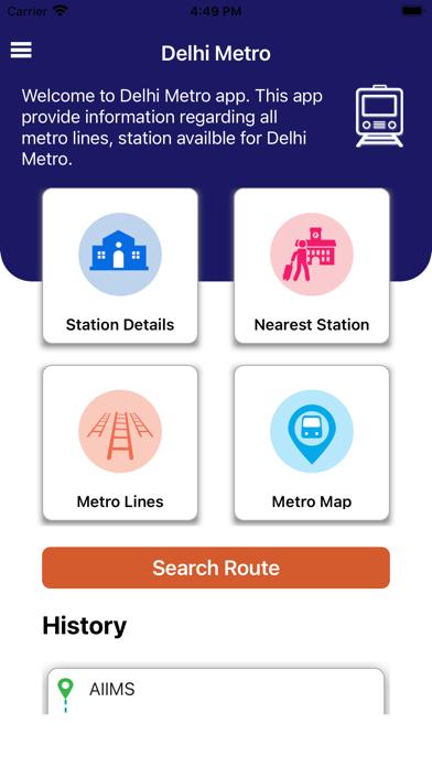 Delhi Metro Map and Routes Pro Screenshot