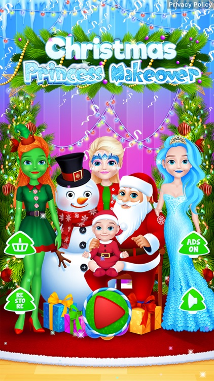 Christmas - Princess Makeover screenshot-5