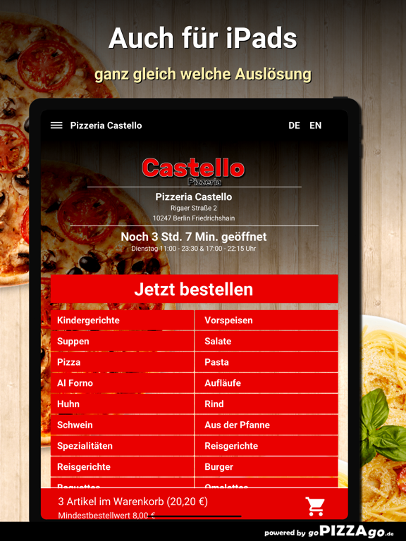 Pizzeria Castello Berlin screenshot 7