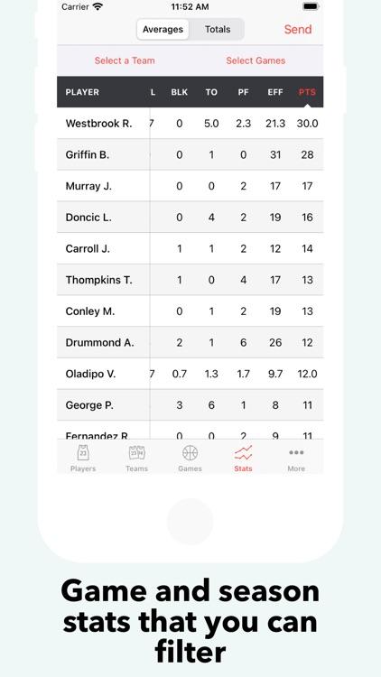 Basketball Stats PRO Phone screenshot-4
