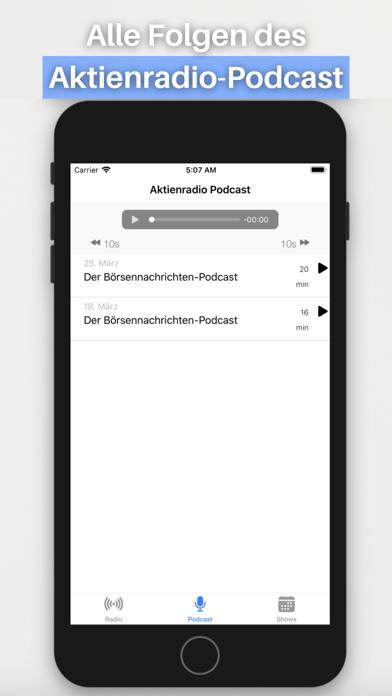 Aktienradio Screenshot