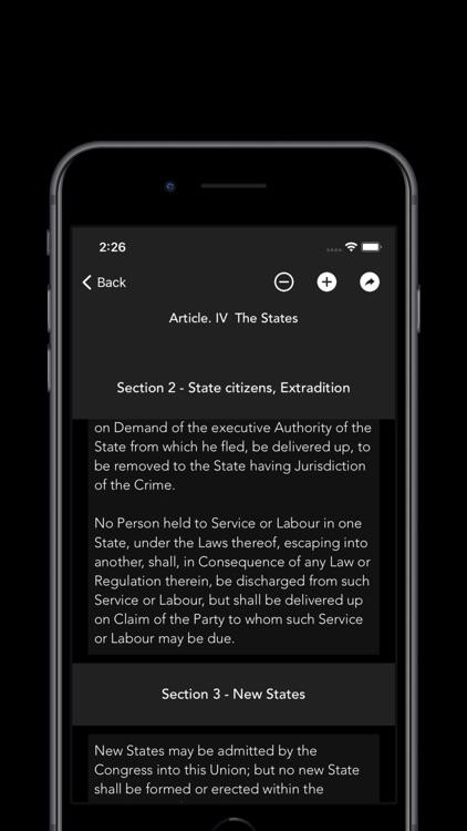 United States Constitution. screenshot-5