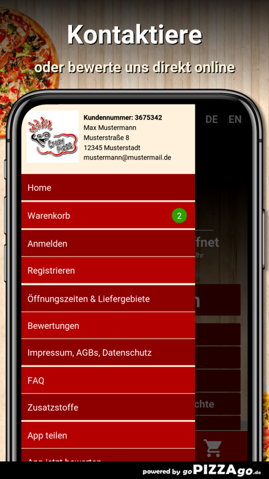 Crazy Pizza Frankfurt am Main screenshot 3
