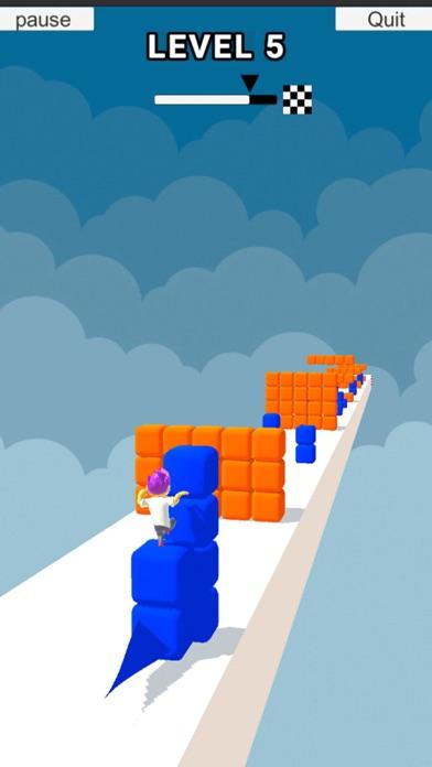 Cube Stacker Surfer 3D Run screenshot 2