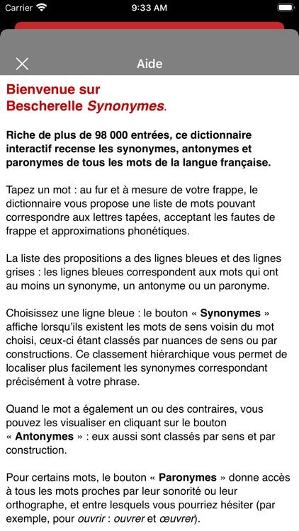 Bescherelle Synonymes screenshot-7