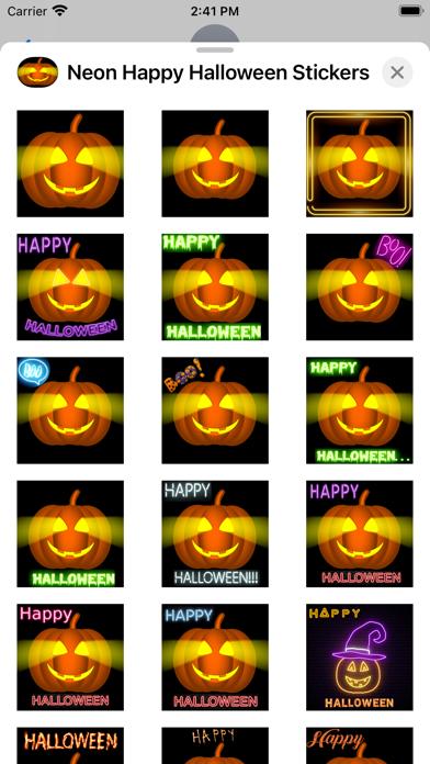 Neon Happy Halloween Stickers screenshot 2