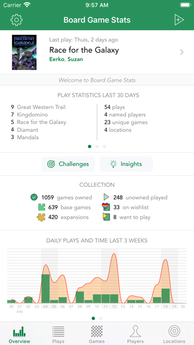 Screenshot #1 pour Board Game Stats