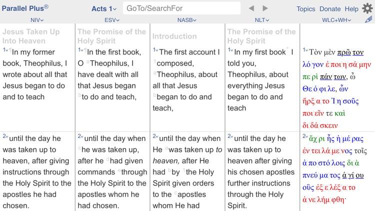 PARALLEL PLUS Bible-study app