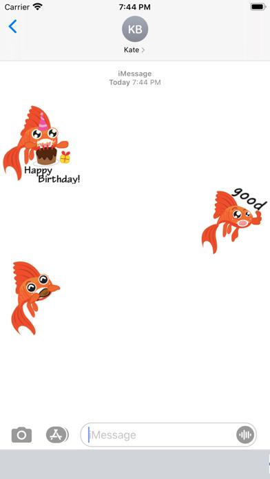 Lucky Goldfish Emoji Sticker screenshot 1
