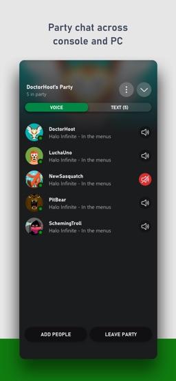 Xbox app screenshot