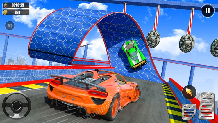 Superhero Racing Car Stunts screenshot-0