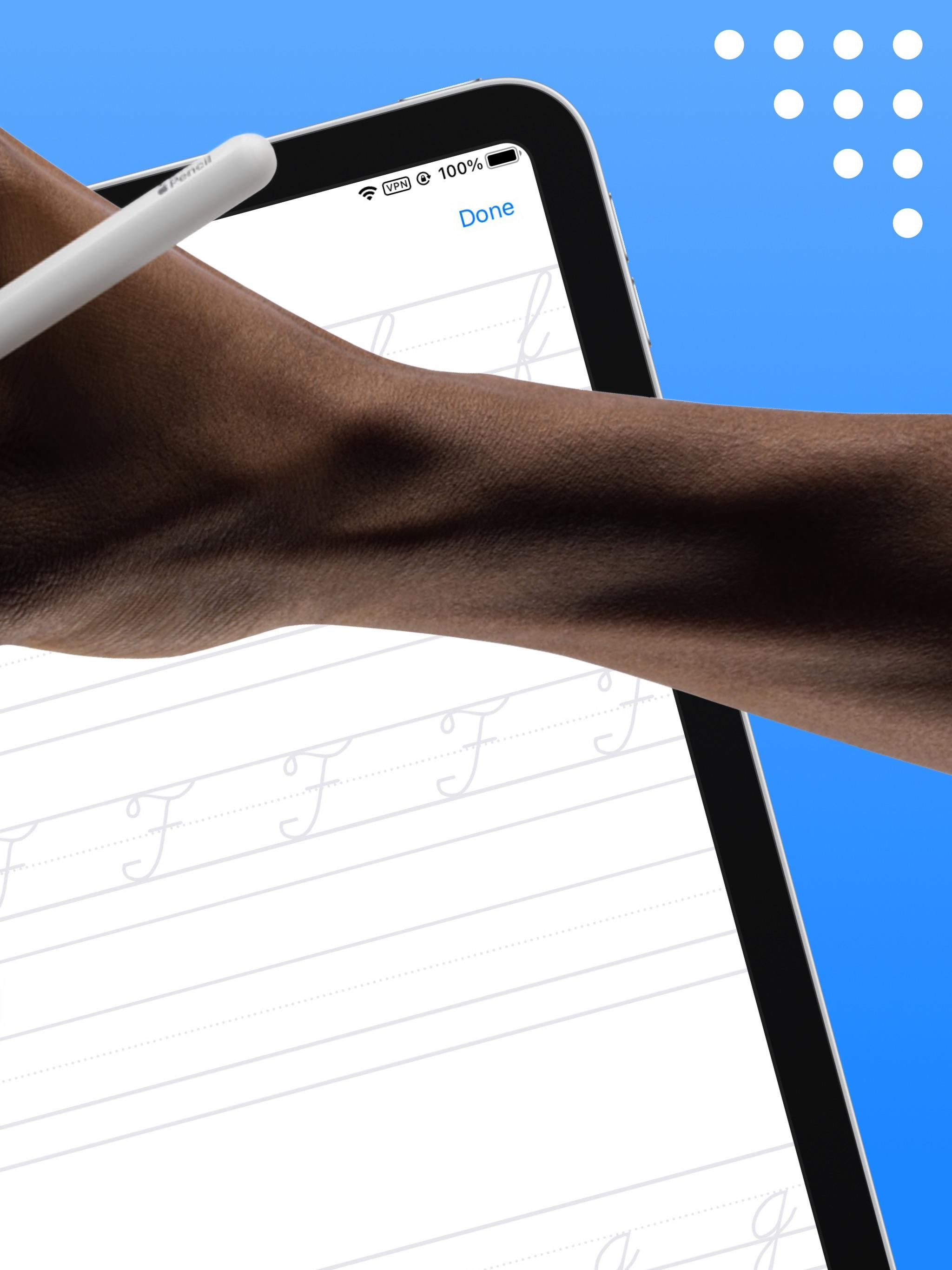 Screenshot do app Writey - Learn Handwriting
