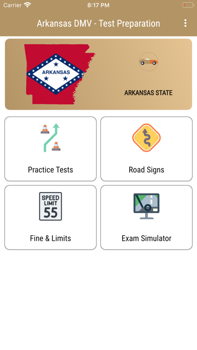 Arkansas DMV Test Preparation Screenshot
