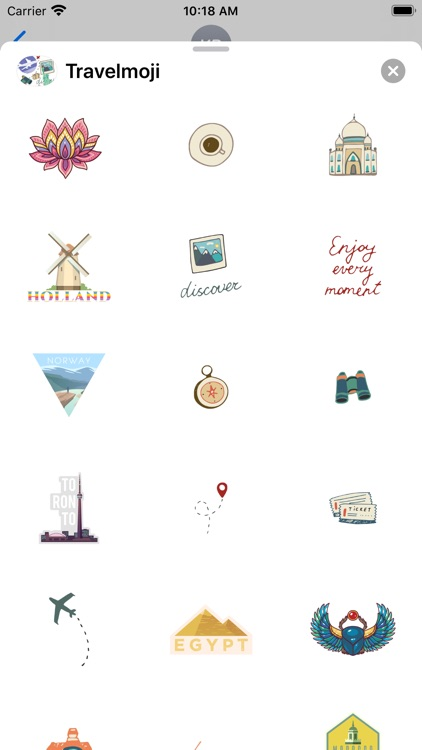Travelmoji Stickers screenshot-6