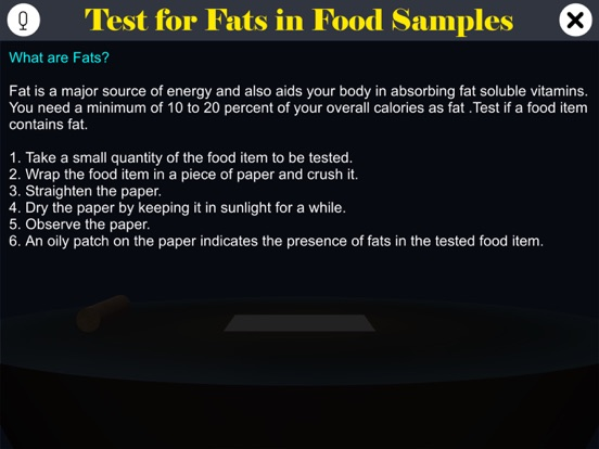 Test for Fats in Food Samples screenshot 8