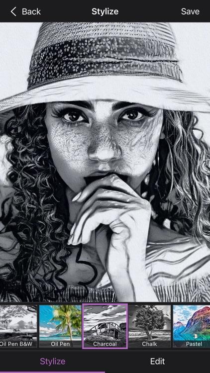 Graphite Sketch Art by BeCasso screenshot-0