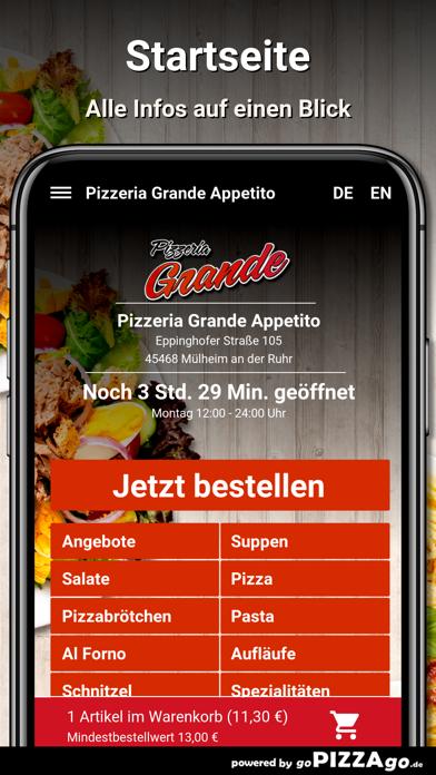 Pizzeria Grande Appetito Mülhe screenshot 2