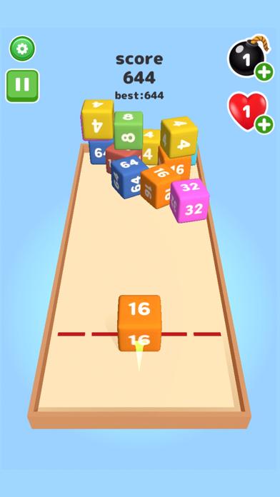 2048 Throw cube - Merge Game screenshot 1