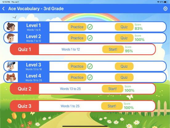 Ace Vocabulary Grade 3 screenshot 3