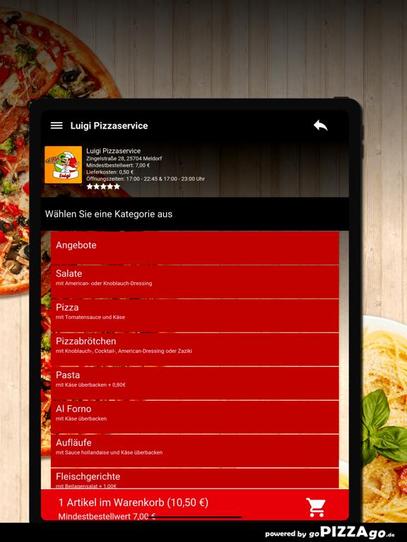 Luigi Pizzaservice Meldorf screenshot 8