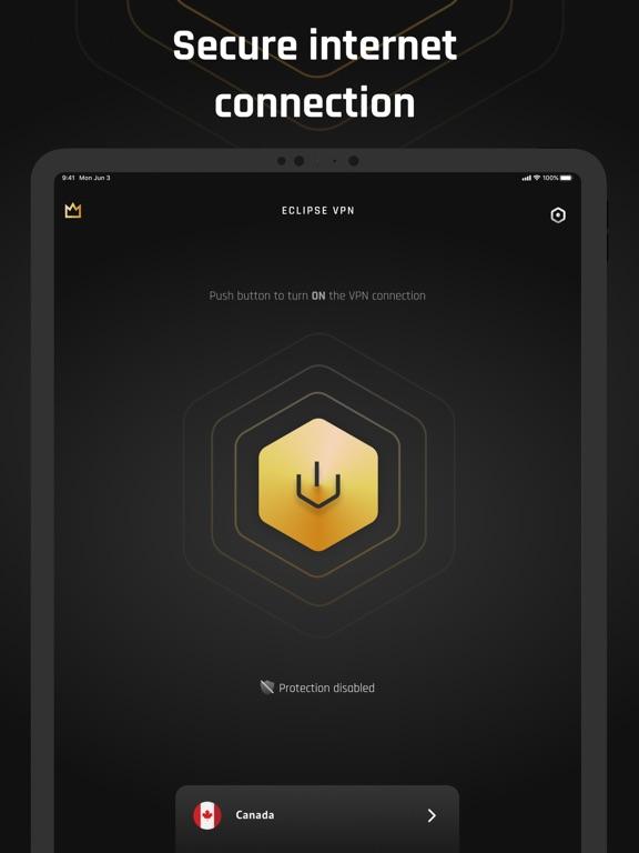 Ipad Screen Shot Eclipse VPN: Online Security 2