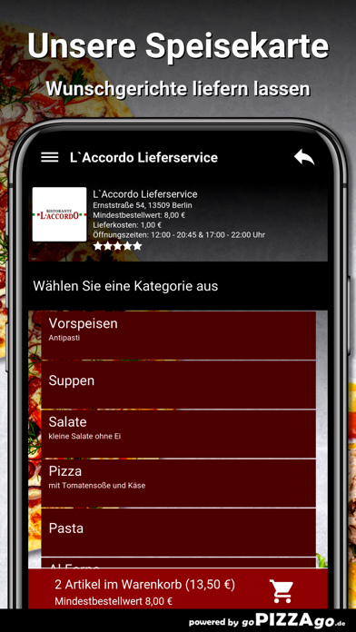 L`Accordo Lieferservice Berlin screenshot 4