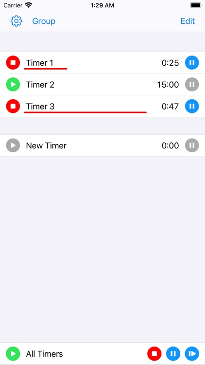 Multiple Countdown Timer
