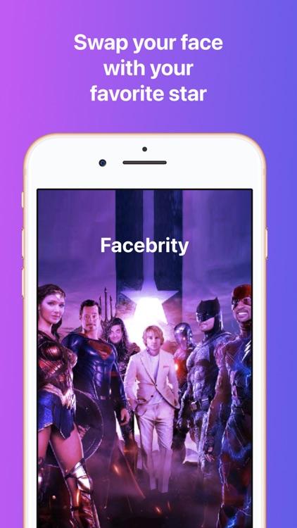 Facebrity: Face Swap Morph App screenshot-0