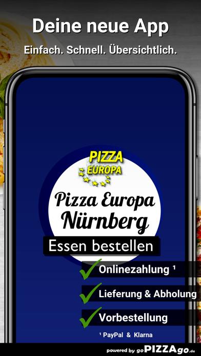 Pizza Europa Nürnberg screenshot 1