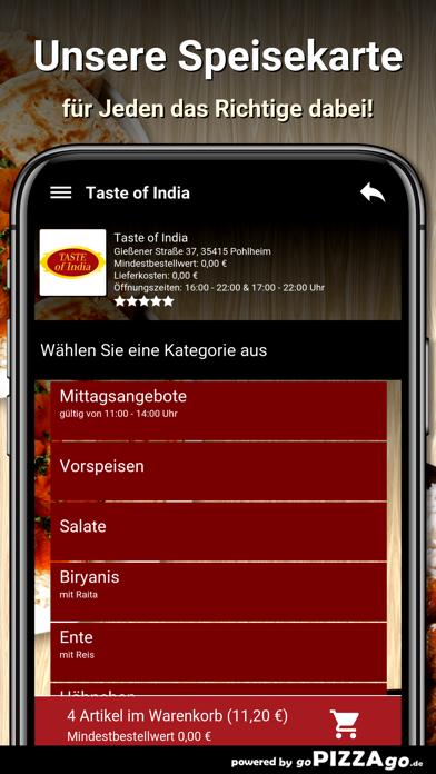 Taste of India Pohlheim screenshot 4