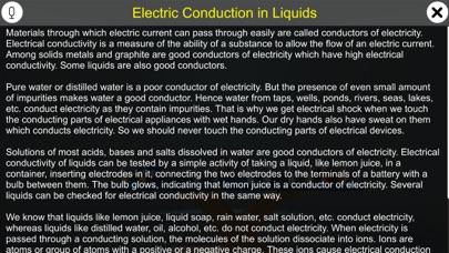 Electric Conduction in Liquids screenshot 1